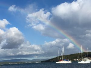 rainbow over Belmont Bay